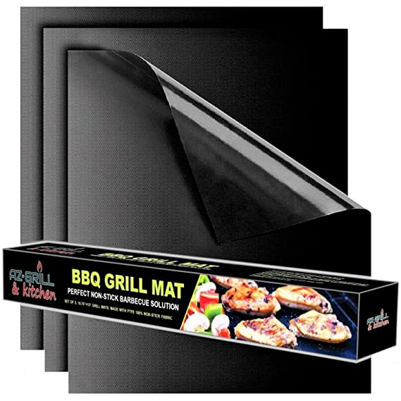A Z Bbq.Grill Mat Set Of 3 Bbq Grill Mats Non Stick Reusable Grilling Mats For Gas Grill Baking Pads Nonstick Use On Charcoal Electric Grills Easy To