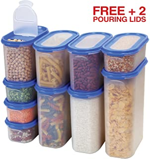 Amazon Com Pour And Store Plastic Dispensers Set Of 3 Food Storage