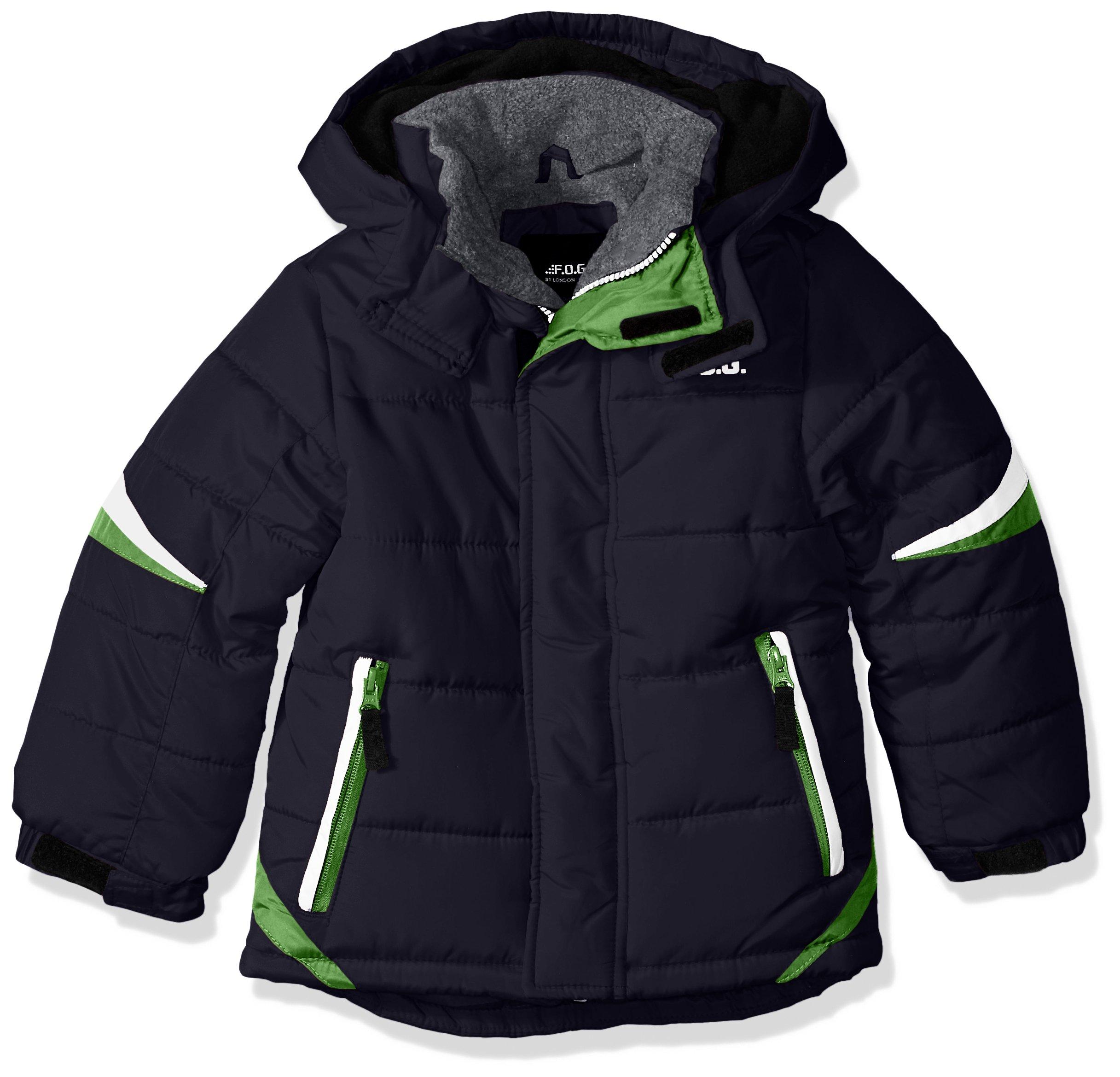 London Fog Big Boys' Active Puffer Jacket Winter Coat, Super Navy, 10/12