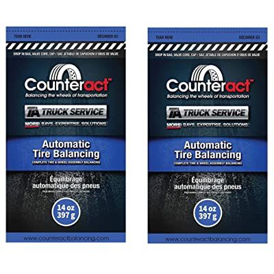 Wheel Tire Balancing 14 Ounce Counteract Beads - Two Pack of Counteract 14 oz TA Truck Service Tire Balancing Beads.: Automotive