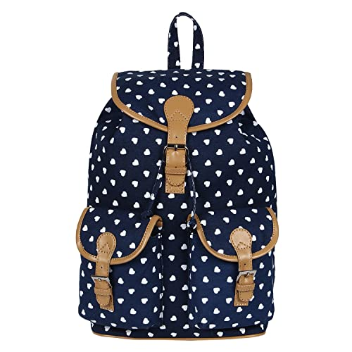 Lychee Bags Women s Blue Canvas Lucy Backpack  Amazon.in  Shoes   Handbags fea7c3f888