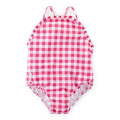 022e934c8a49f Ralph Lauren Baby GIrls Gingham One-Piece Swimsuit Pink/White Multi (18  Months