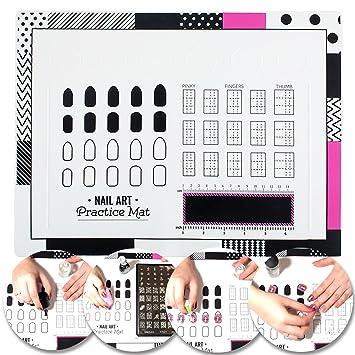 Amazon Vaga Nail Art Stamping Mat Made Of Silicone As Designs
