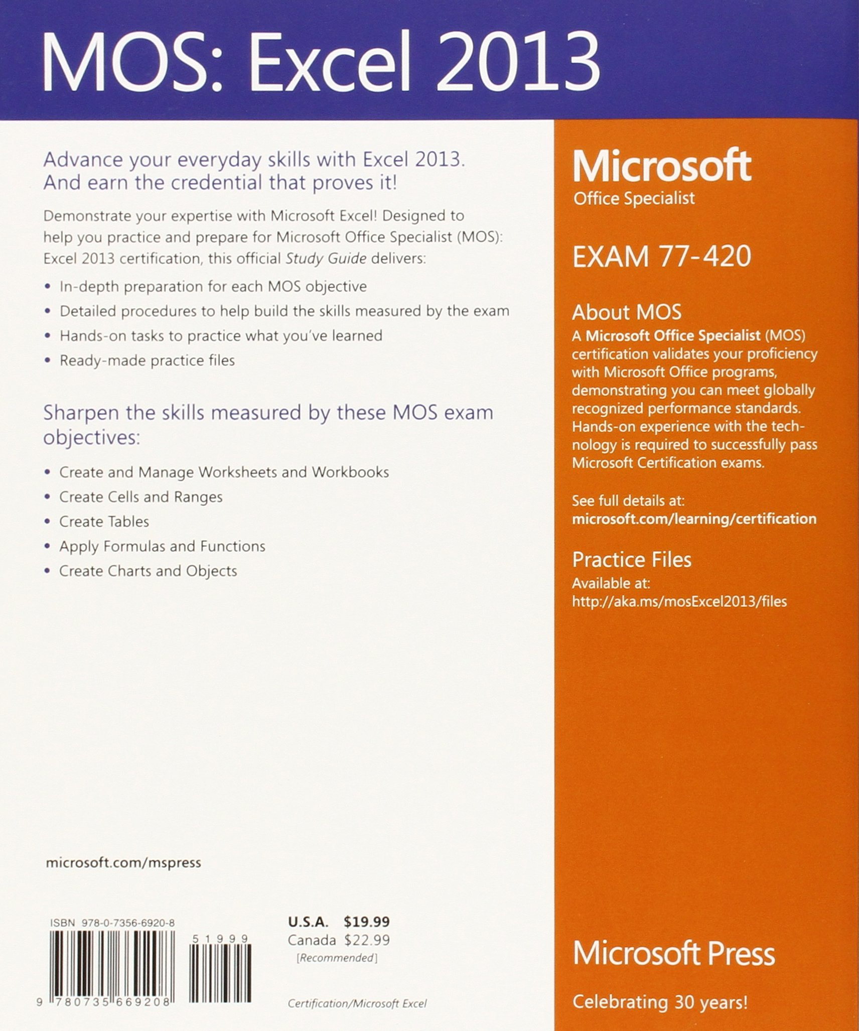 Mos 2013 study guide for microsoft excel amazon joan mos 2013 study guide for microsoft excel amazon joan lambert 9780735669208 books robcynllc Choice Image
