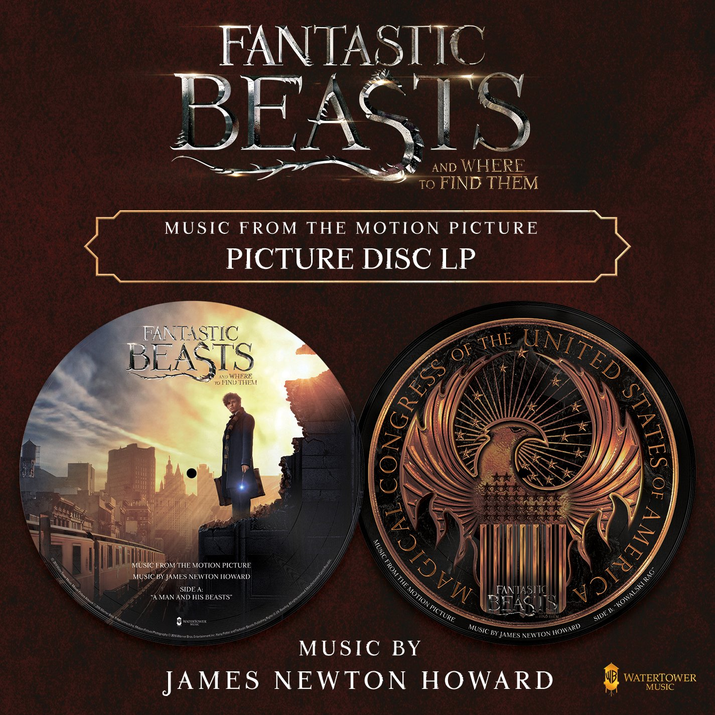 """James Newton Howard - Fantastic Beasts And Where To Find Them: Music From The Motion Picture [12"""" Picture Disc] - Amazon.com Music"""