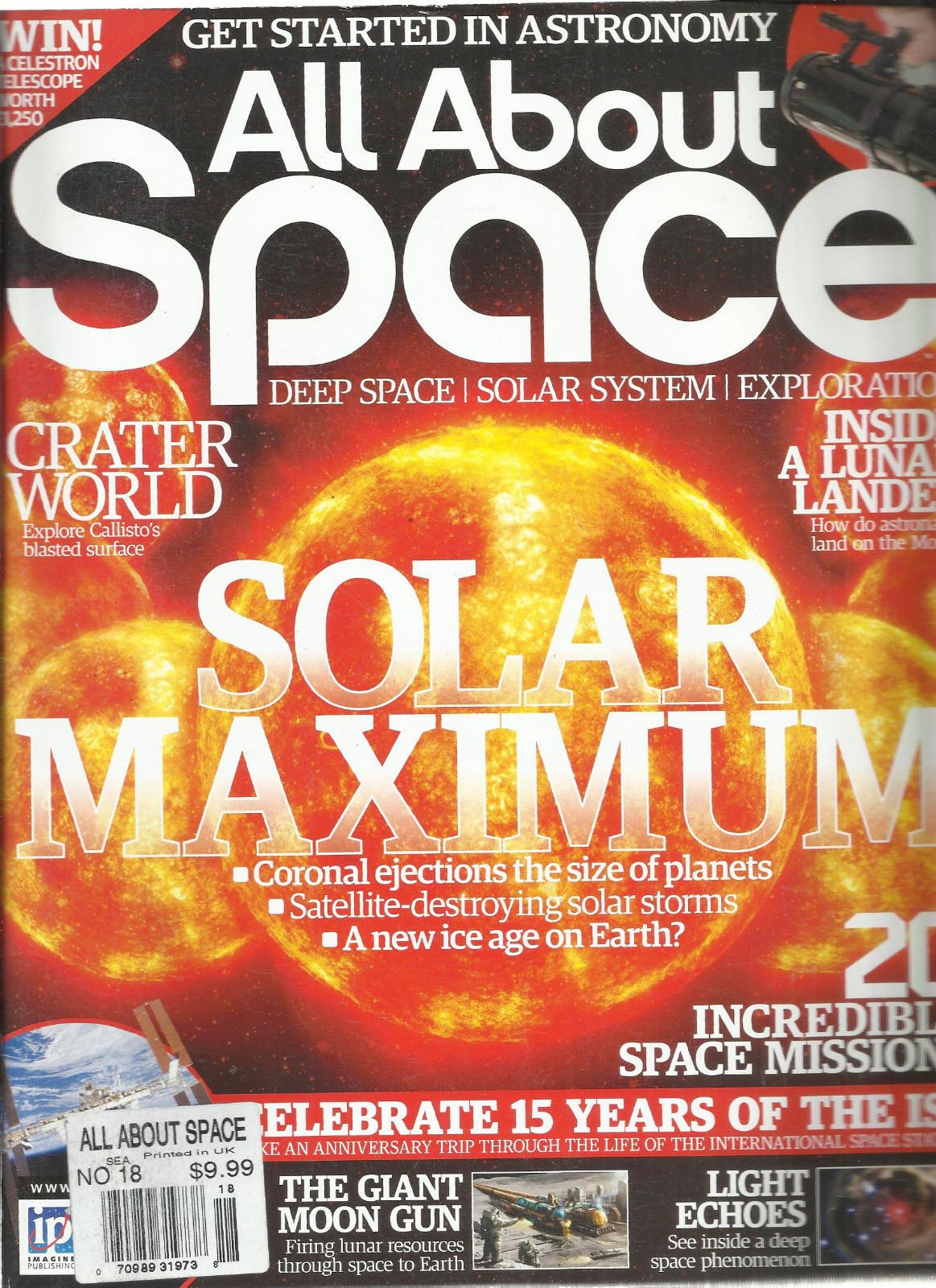 ALL ABOUT SPACE, NO.18 ( DEEP SPACE SOLAR SYSTEM EXPLORATION * CRATER WORLD )