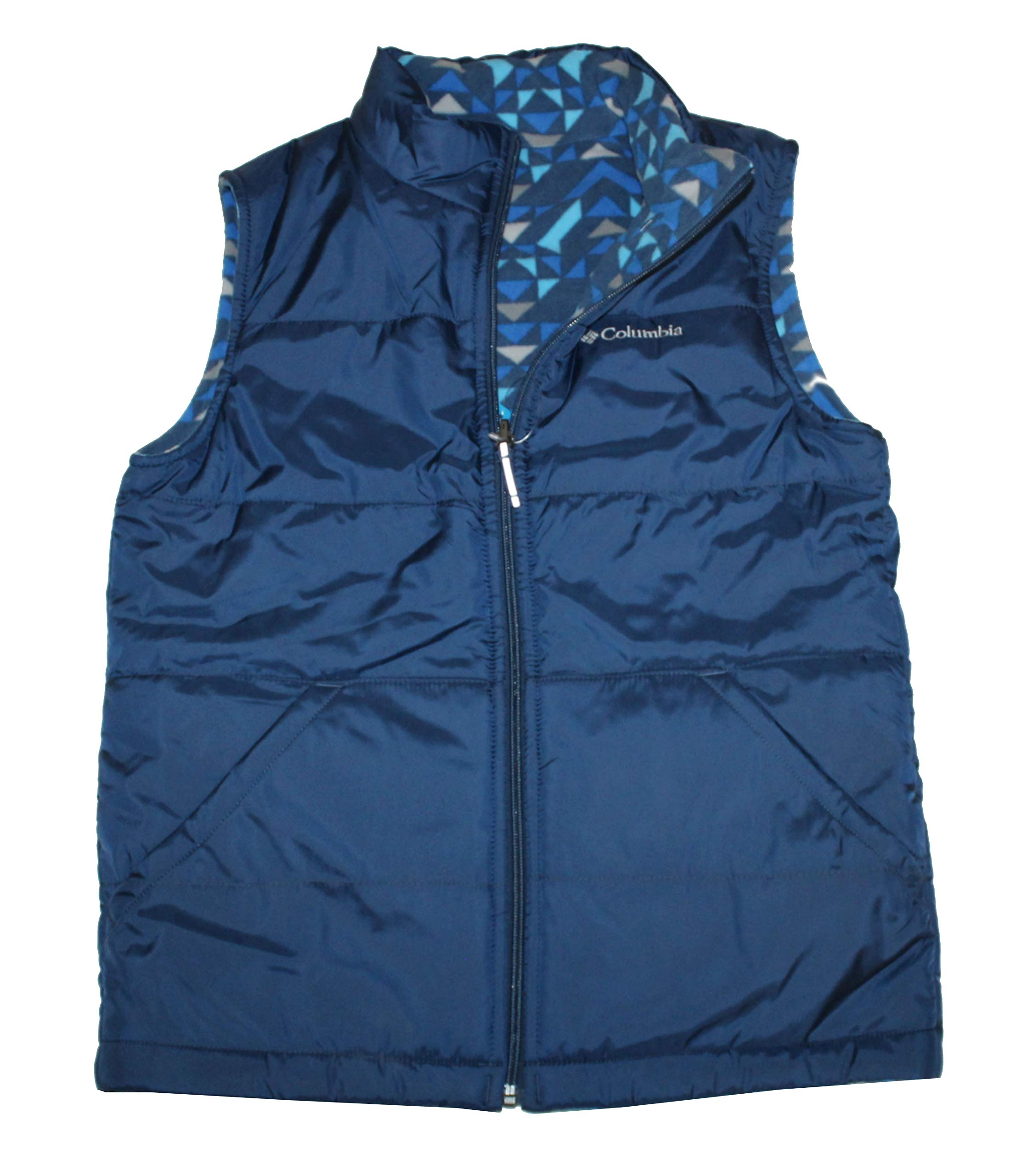 Columbia Youth Kids Boys Ice Chips II Reversible Fleece Puffer Vest (Navy, L 14/16) by Columbia
