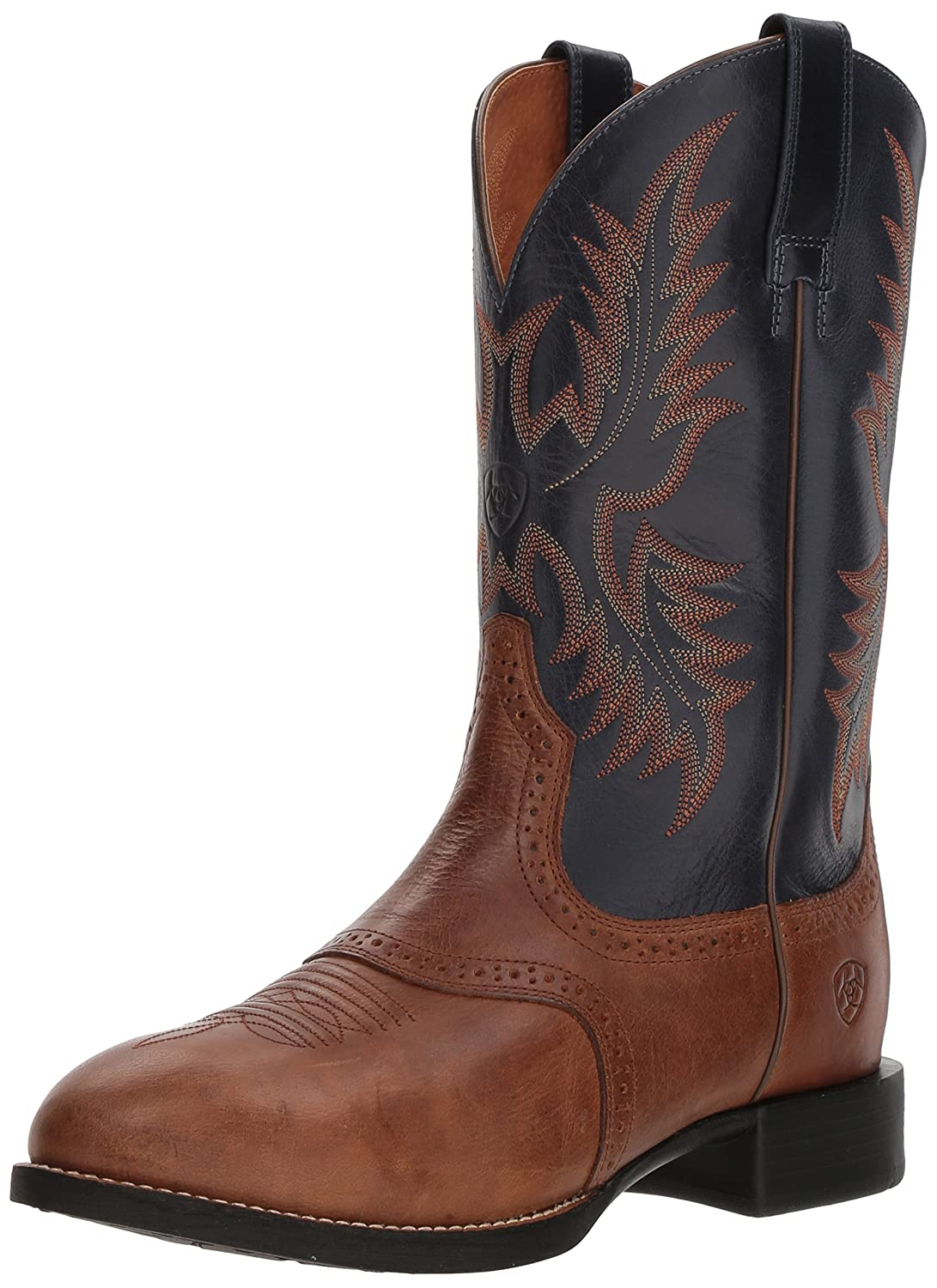 Ariat Men's Heritage Stockman Western Boot B00NVIVI90 9 E US|Sandstorm/Arizona Sky