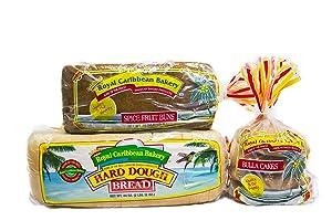 Royal Caribbean Bakery Variety Pack (Hard Dough Bread, 44 Oz.; Spiced Fruit Bun, 38 Oz.; Bulla Cakes, 16 Oz.)