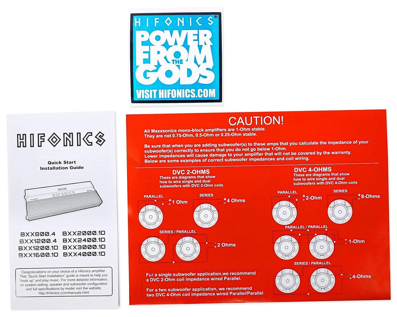 Hifonics Bxx40001d 4000w Rms Car Audio Mono Amplifier 8 Ohm Subwoofer Wiring Class D Brutus Amp Kit Electronics
