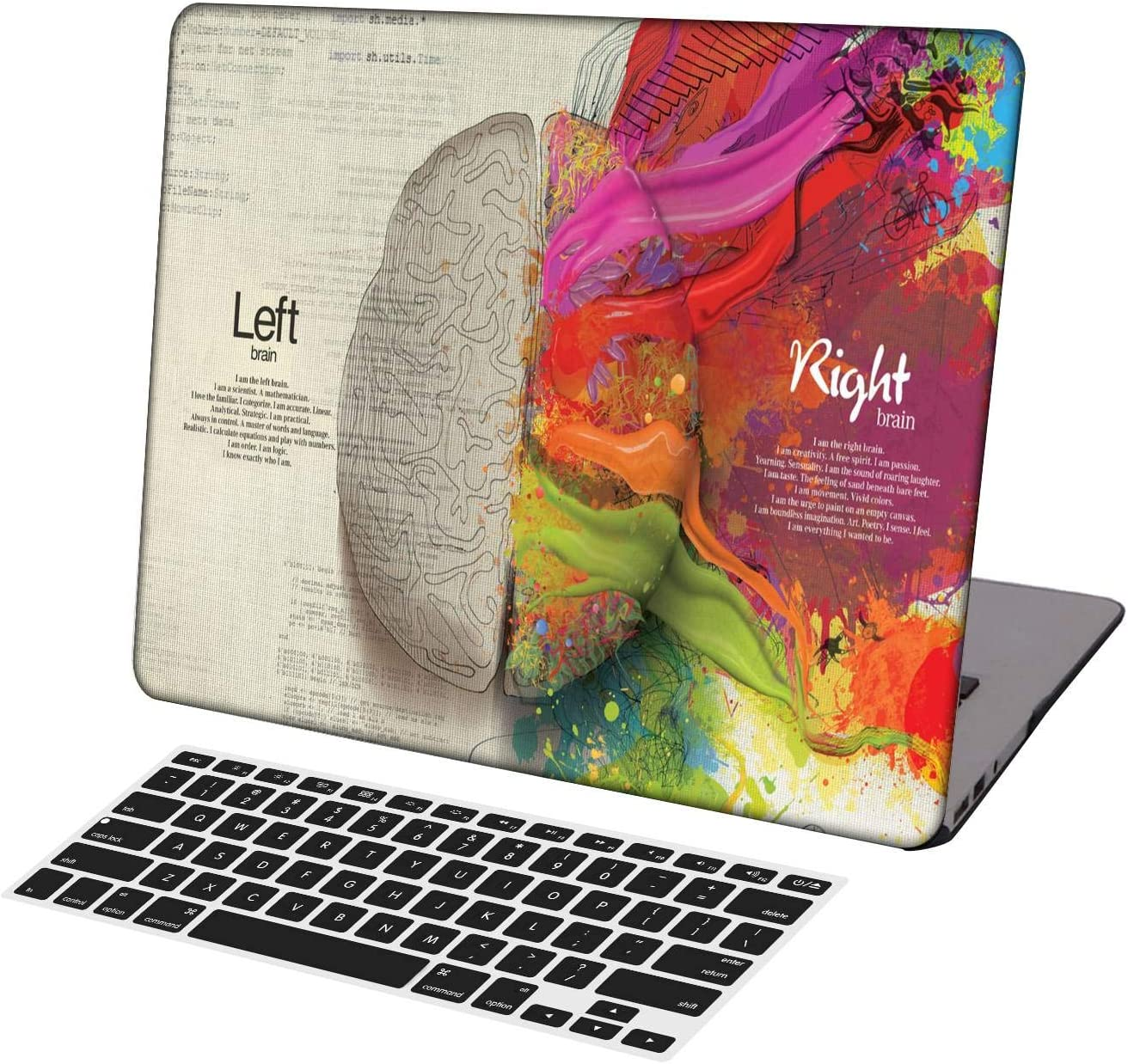 KSK KAISHEK Laptop Case for MacBook Air 13 inch Model A1369/A466,Plastic Ultra Slim Light Hard Shell Case Cover Keyboard Cover Compatible MacBook Air 13 Inch No Touch ID,Left and Right Brain