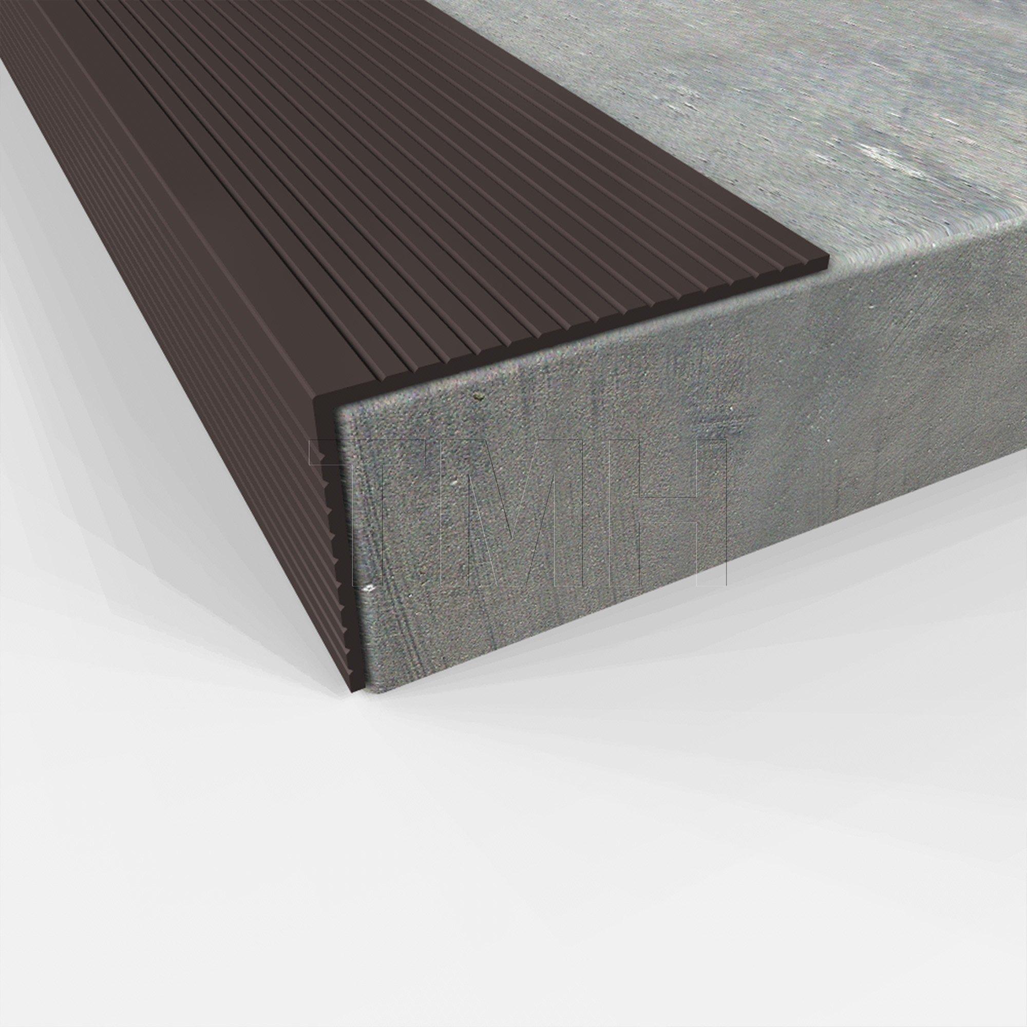 Stair Nosing, 48'' Long, Dark Bronze Aluminum Anodized (Black)