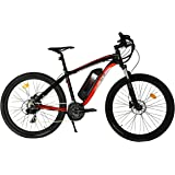LFB Mtb Vélo Électrique Mixte Adulte, Noir/Rouge
