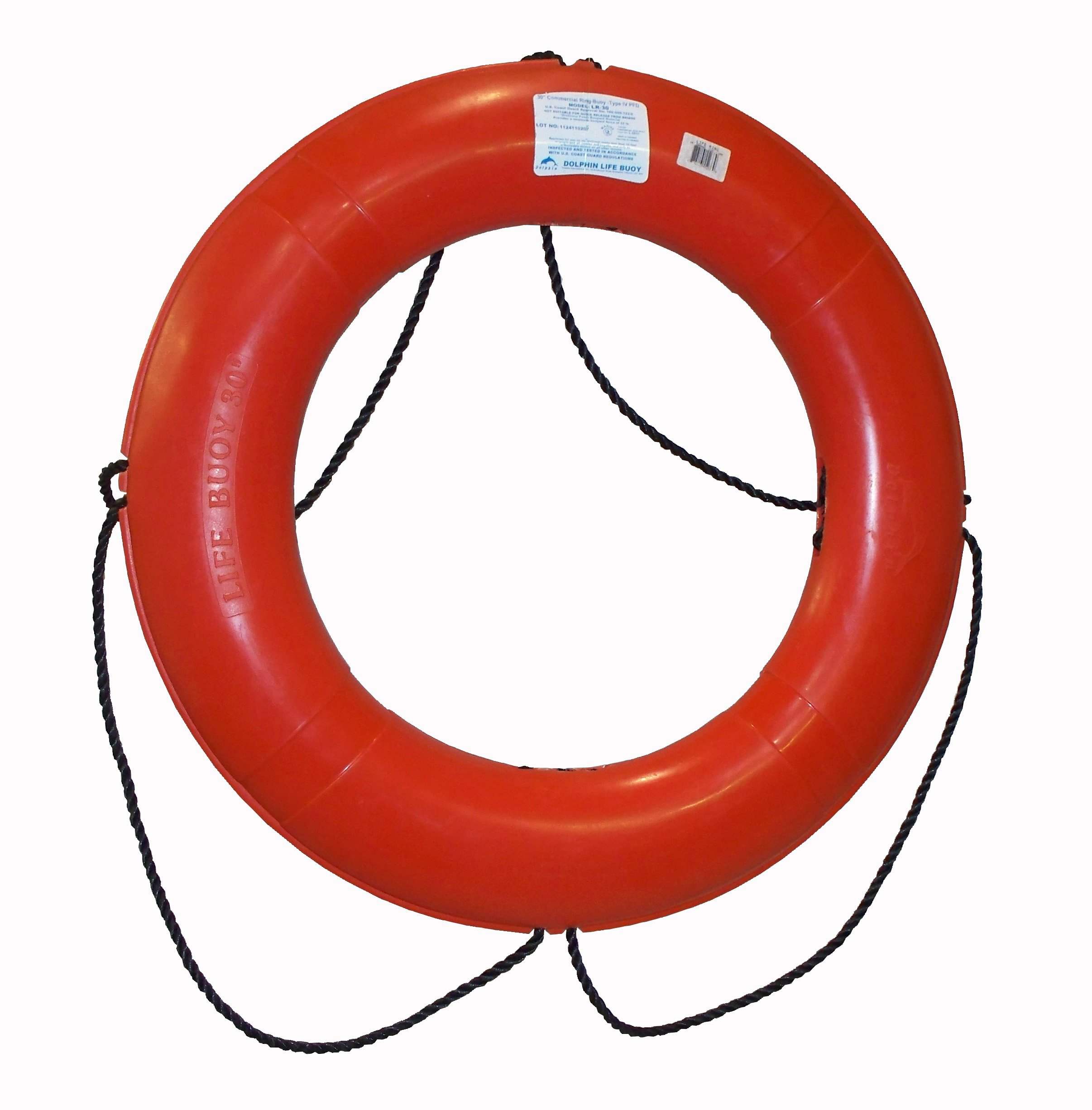 Dock Edge + Inc. USCGA Approved Commercial Life Ring Buoy, 30'' by Dock Edge