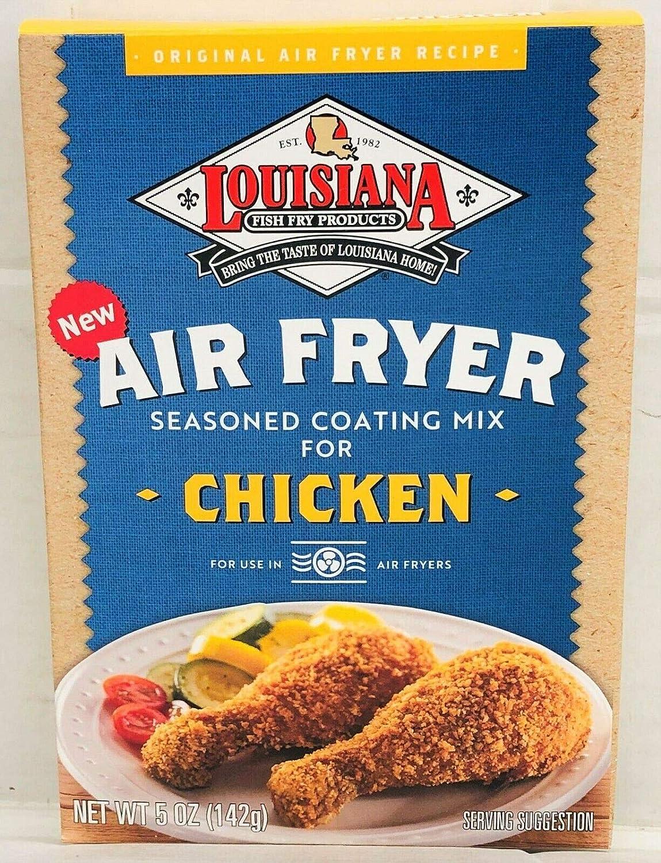 Louisiana Fish Fry Air Fryer Chicken Seasoned Coating Mix - 5 Oz