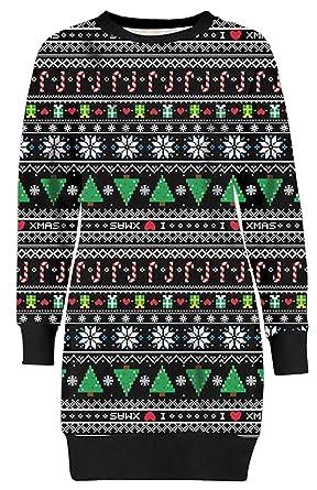 Neu Damen Weihnachten Aztec Sankt Lebkuchen Schneeflocken Thermal ...