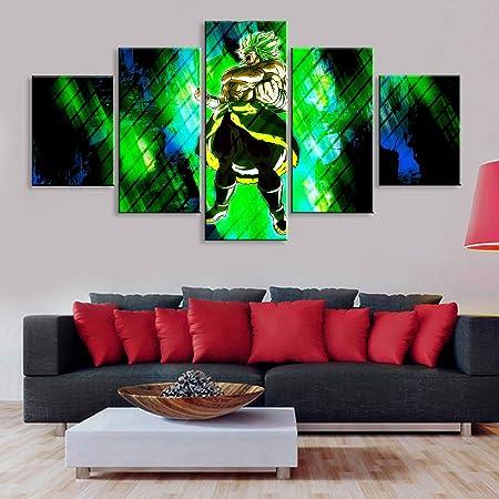 mmwin Arte Cartel Imágenes Decoración HD Impresión 5 Piezas ...