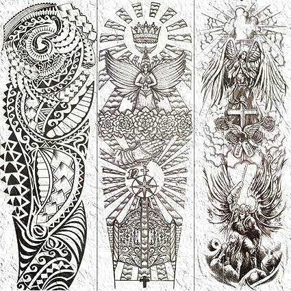 MRKAL Bosquejo De La Pierna del Brazo Completo Dibujo Tatuajes ...