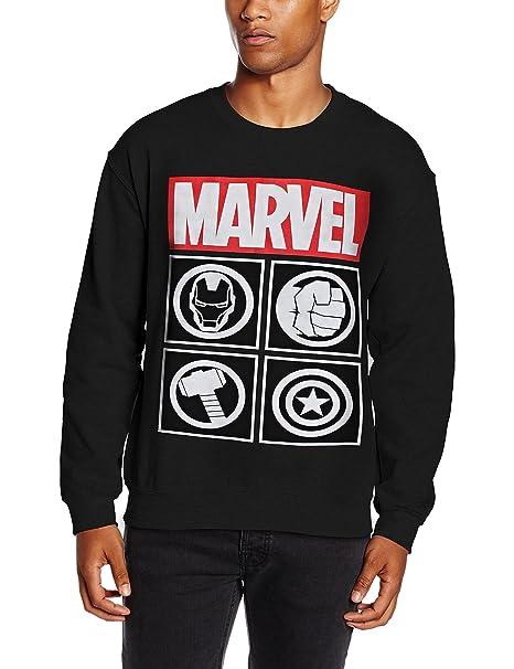 Marvel Avengers Icon, Sudadera para Hombre, Negro (Black), X-Large: Amazon.es: Ropa y accesorios