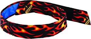 Cooling Bandana, Flames, Lined with Evaporative PVA Material for Fast Cooling Relief, Quick and Secure Fit, Ergodyne 6705CT