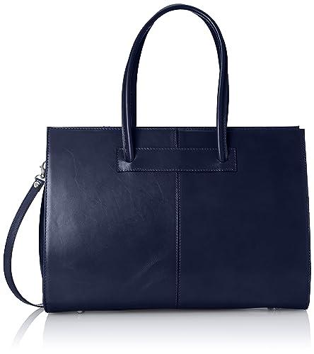 Chicca borse Sacs Portés épaule Femme, (Blu Scuro), 27 cm