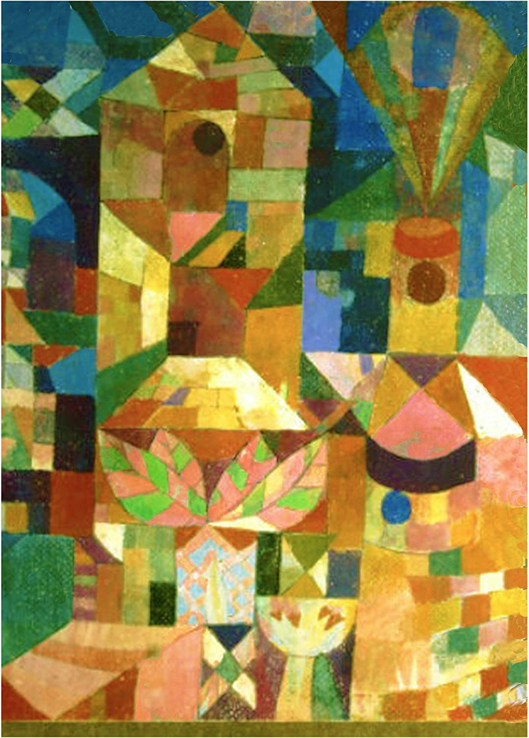 Orenco Originals The Lonely Flower Expressionist Artist Paul Klee Counted Cross Stitch Pattern