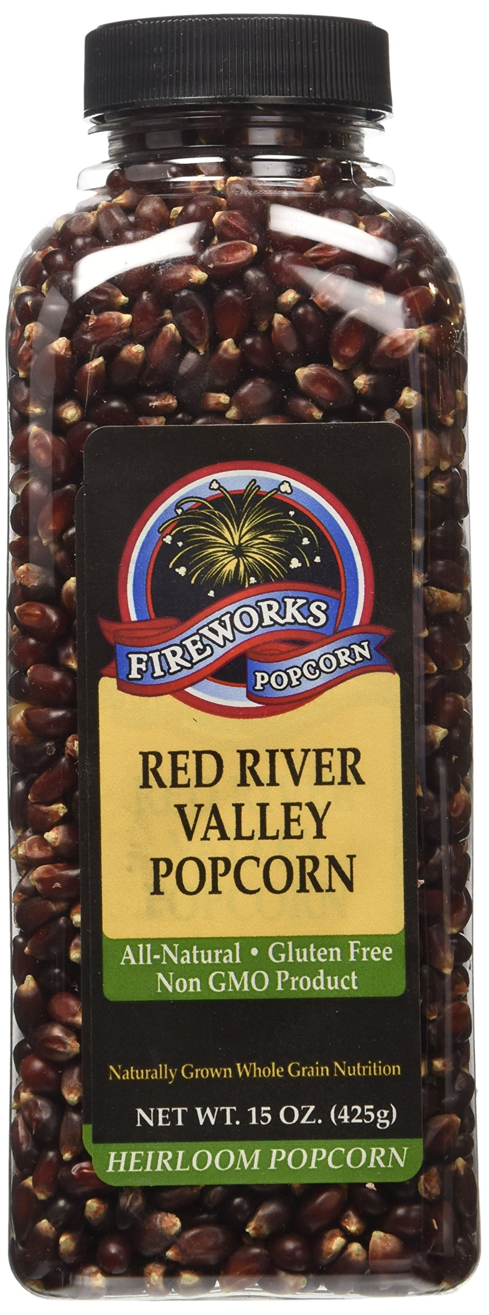 Fireworks Popcorn Red River Valley Popcorn, 15-Ounce Bottles (Pack of 6)