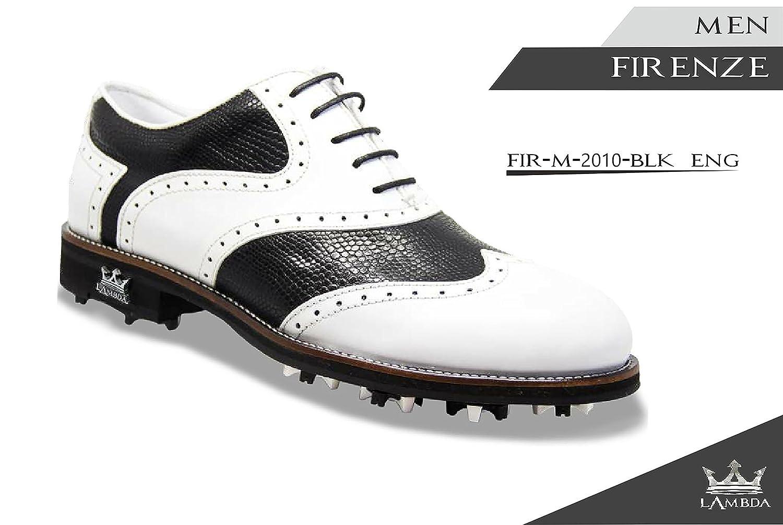 LAMBDA GOLF Shoes Man MOD. Firenze COL. WH Blk B07B2XZFXK 43 M EU