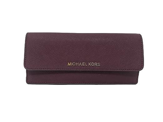 e9db9d9e3ef5 Michael Kors Jet Set Travel Flat Saffiano Leather Wallet Plum Blossom   Amazon.co.uk  Clothing