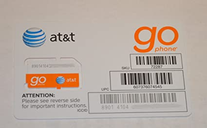 amazon com at t prepaid go phone 3g sim card ready to activate sku