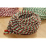 10 Metres of Candy Cane - Christmas - Red/White/Green Craft - Bakers - Butchers - String - Twine
