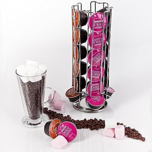 dolce gusto 24 coffee pod rotating holder rack capsule. Black Bedroom Furniture Sets. Home Design Ideas