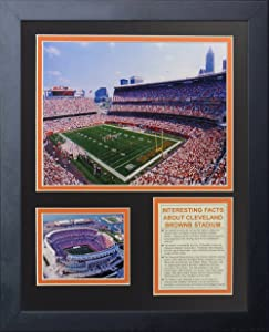 """Cleveland Browns Stadium 11"""" x 14"""" Framed Photo Collage by Legends Never Die, Inc."""