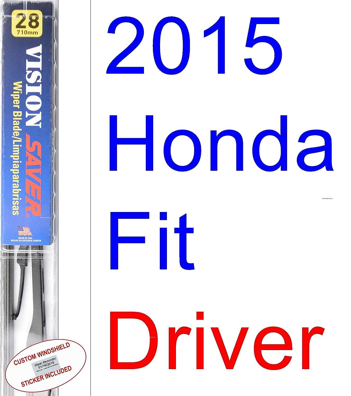 Amazon.com: 2015 Honda Fit Replacement Wiper Blade Set/Kit (Set of 3 Blades) (Saver Automotive Products-Vision Saver): Automotive