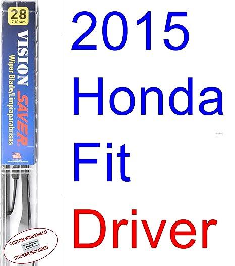 Amazon.com: 2015 Honda Fit Wiper Blade (Driver) (Saver Automotive Products-Vision Saver): Automotive