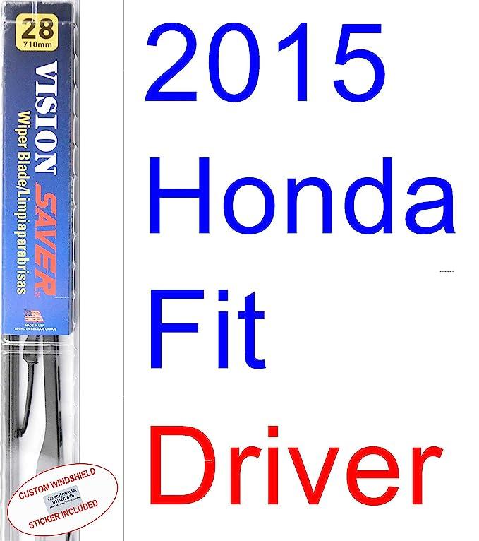 Amazon.com: 2015 Honda Fit Replacement Wiper Blade Set/Kit (Set of 2 Blades) (Saver Automotive Products-Vision Saver): Automotive