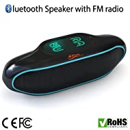 iFox IFS309 Wireless Portable Bluetooth Speaker for iPhone iPad Android or Computer with FM Radio, AUX, USB, SD, Speakerphone and NFC, 6W Best Bass
