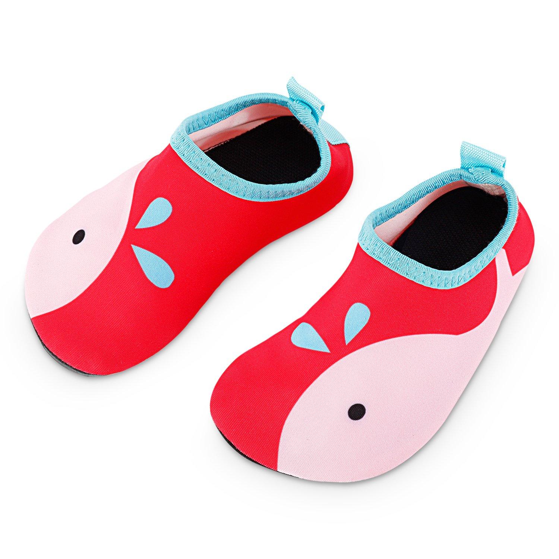 Bigib Toddler Kids Swim Water Shoes Quick Dry Non-Slip Water Skin Barefoot Sports Shoes Aqua Socks for Baby Boys Girls Size 5-6 M US Toddler