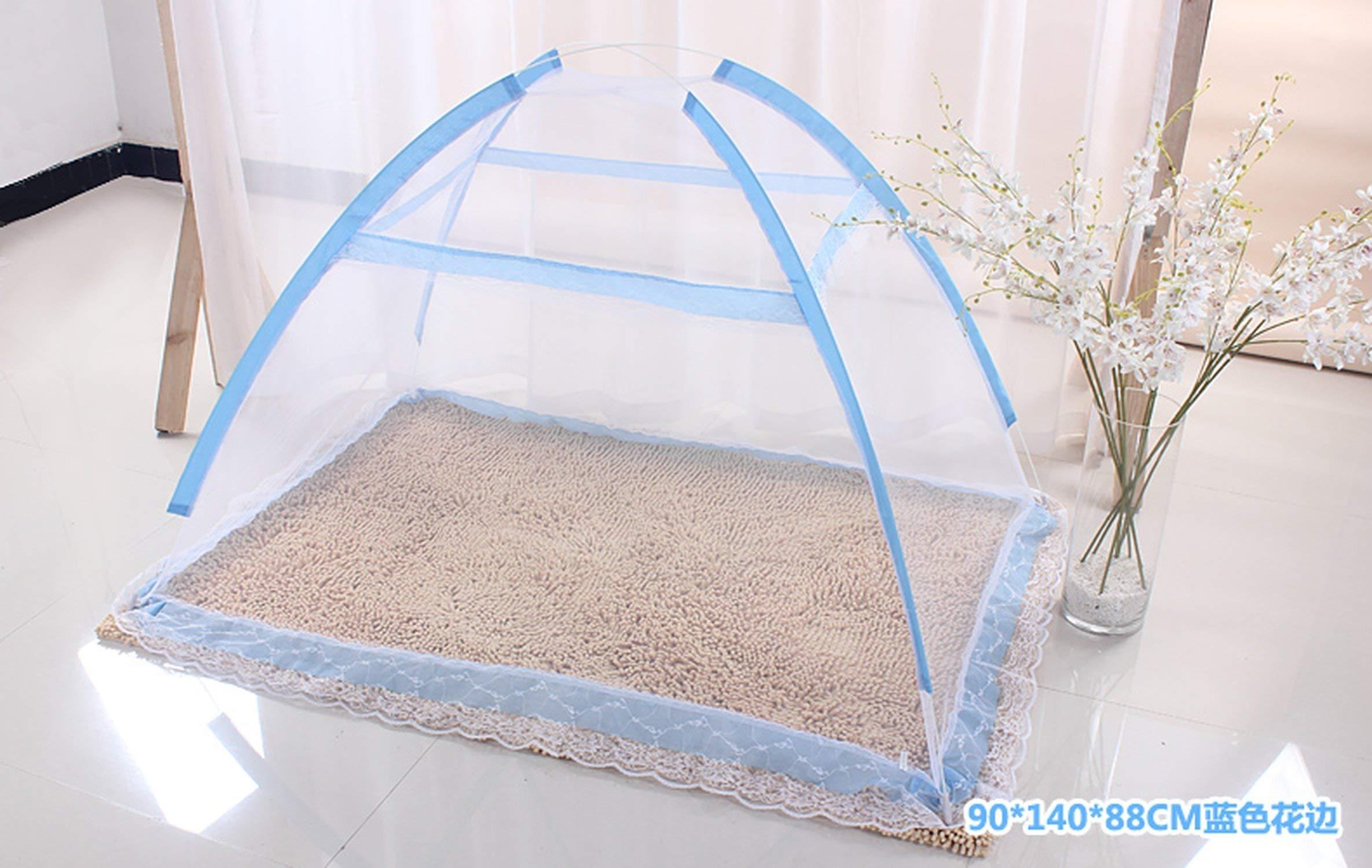 From Zero mosquito net for Children 90X140Cm Folding Baby Mosquito Net Mongolian Portable Outdoor Travel Mosquito Net,Sky Blue,90X140Cm by From Zero mosquito net (Image #3)