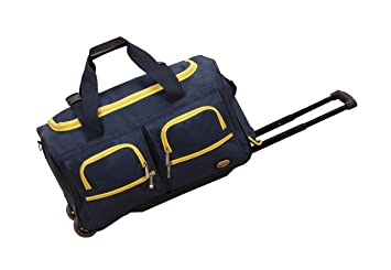 26dcf431e8 Image Unavailable. Image not available for. Color  Rockland Luggage 22 Inch Rolling  Duffle Bag ...