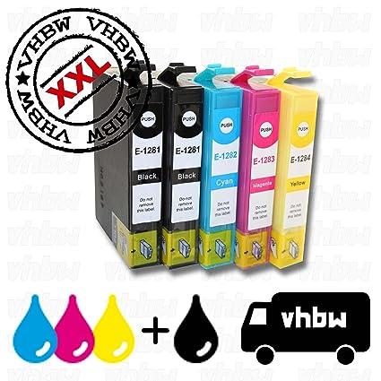 vhbw 5X Cartuchos de Tinta de Impresora compatibles con Epson ...