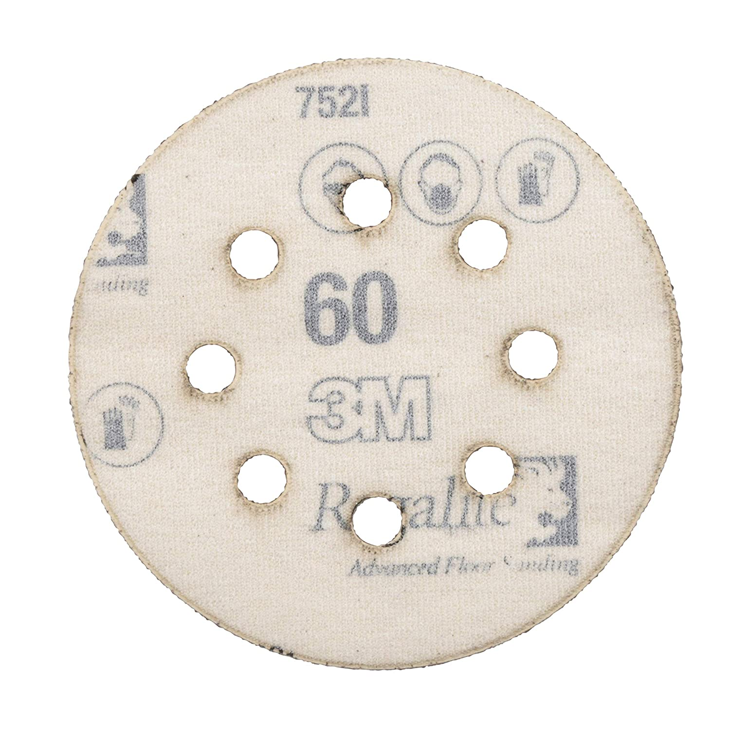 3M 88521NA-9-B Pro Grade 5-Inch 8-Hole Sanding Disc 3M Office Products