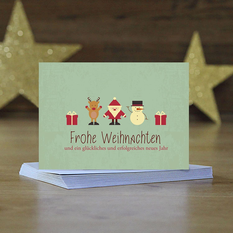 Weltbild Weihnachtskarten.15 X Weihnachtskarten Moderner Vintage Look Grußkarten Im