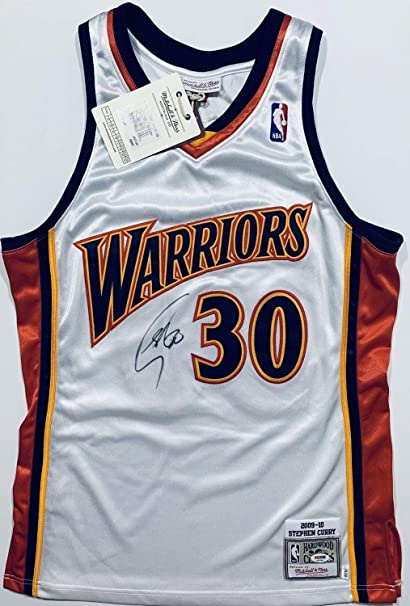 6472b3228 Stephen Curry Autographed Signed Golden State Warriors Authentic 2009 Rookie  Jersey PSA DNA - Size