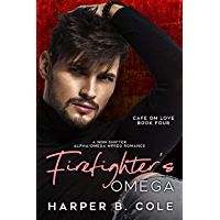 Firefighter's Omega: Nonshifter MM Mpreg Romance (Cafe Om Love Book 4) (English Edition)