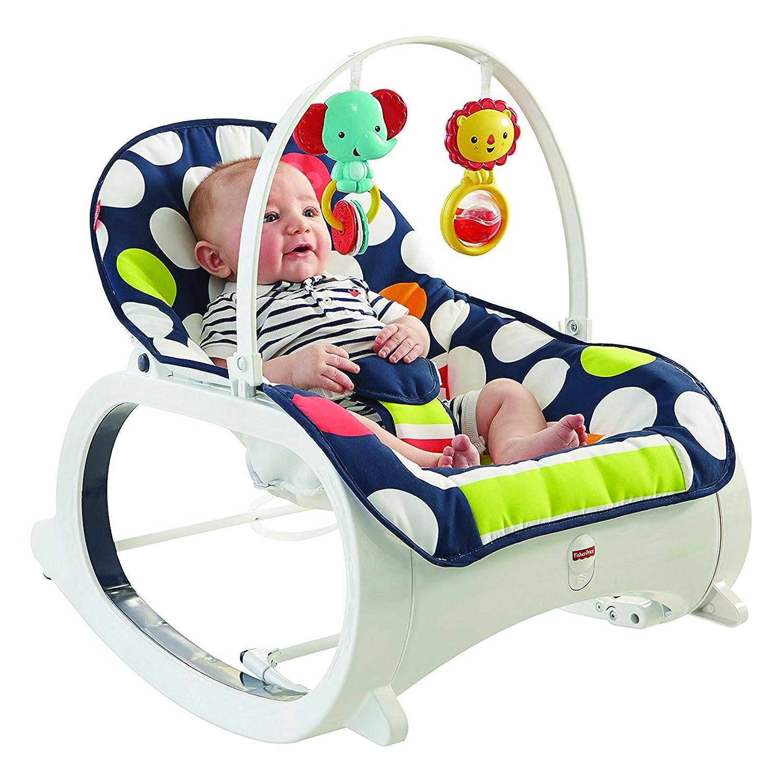 Fisher-Price Infant-to-Toddler Rocker - Navy Dot CMR07