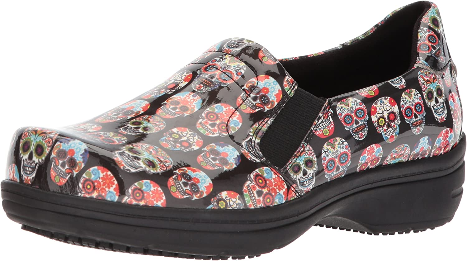 Easy Works womens Bind Health Care Professional Shoe, Skull Patent, 10 Wide US