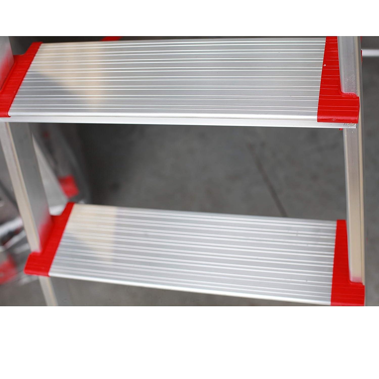 3 Pelda/ños con Ancho 12 cm Escalera de Tijera de Aluminio Pelda/ño Ancho 12 cm