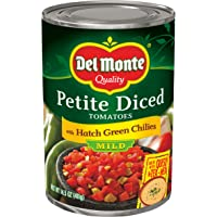 Del Monte Tomato with Diced Green Chili, 14.5-Ounce Packages