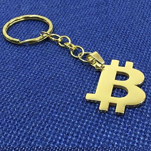 Bitcoin llavero llavero de acero inoxidable chapado en oro | desafío físico moneda como regalo